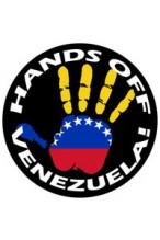 Hands Off Venezuela Badge